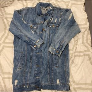 Boohoo oversized Distressed Jean Jacket
